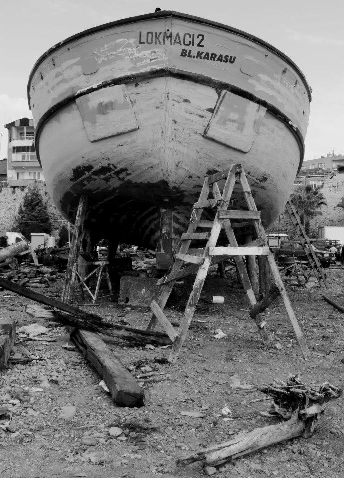 Les bateaux en bois de Sinop. Photo : Cem Keskin