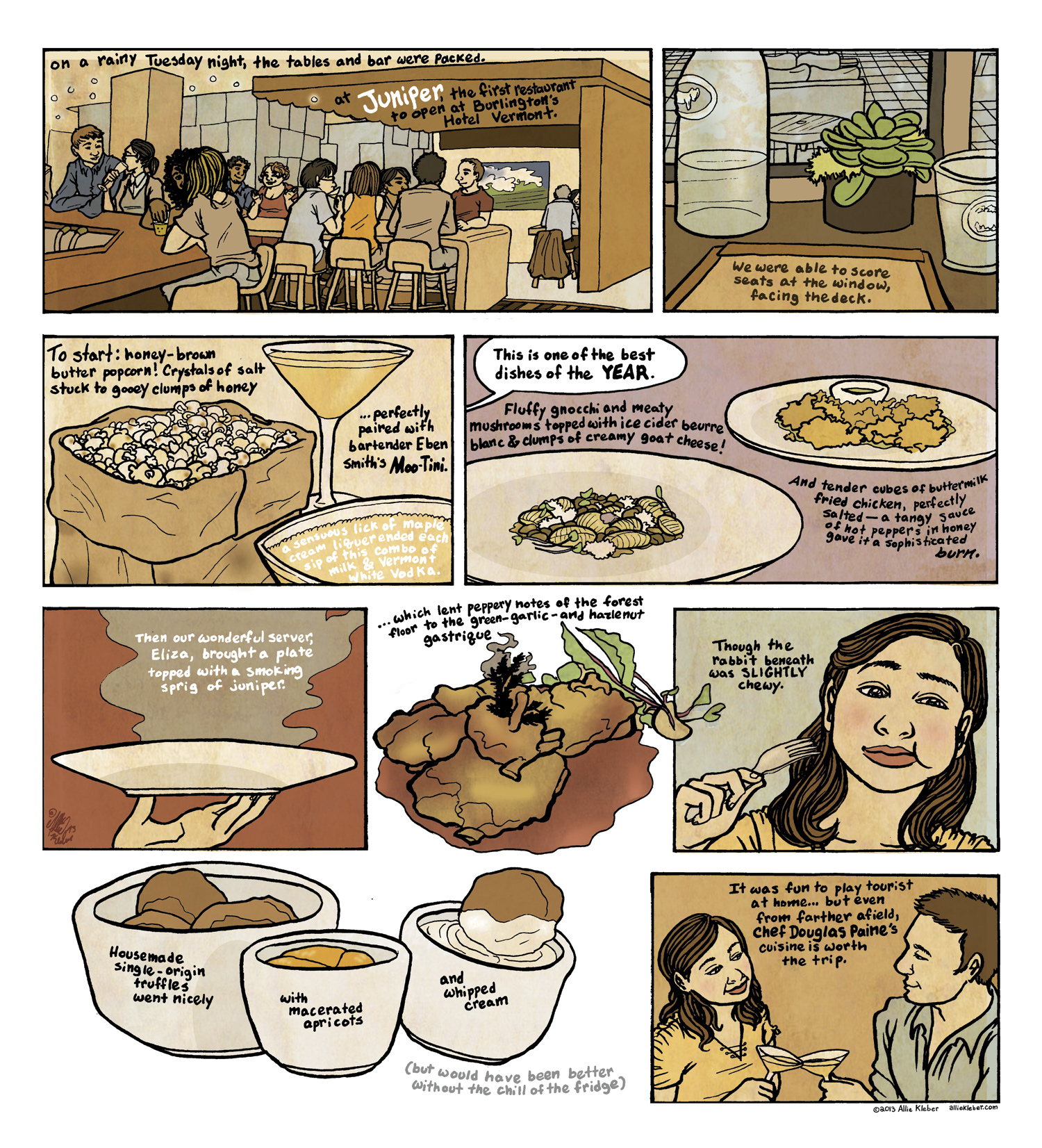 My contribution to the  Seven Days cartoon issue . Text (and source photos) by the lovely  Alice Levitt !