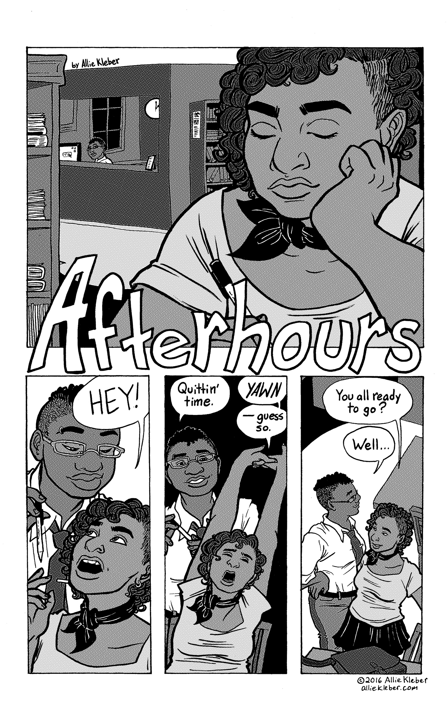 """""""Afterhours"""" is a short piece of erotica created for   Erotic Synergy  , an anthology of erotic fiction & poetry by women and nonbinary people. (Mine is the only comic featured in the book.) NOT SAFE FOR WORK."""