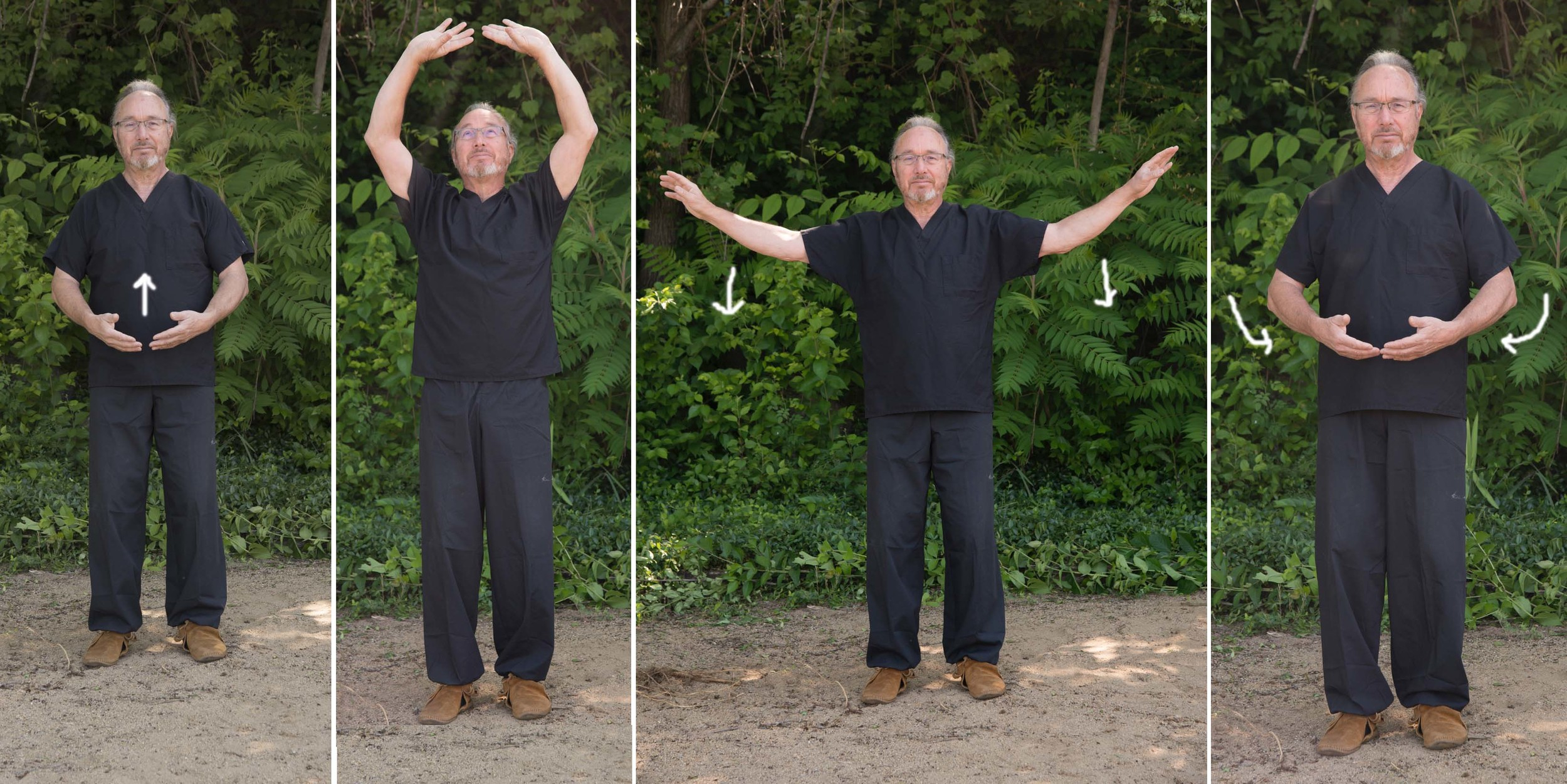 two hands hold up the heavens - eight brocades ( baduan jin ) demonstrated by Steven J. Rendina