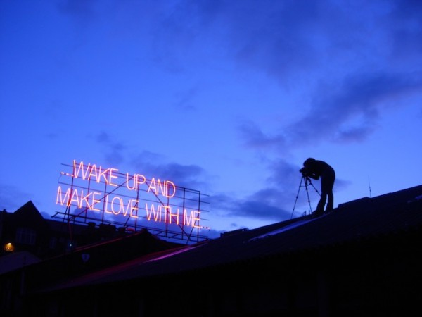 """Wake up and make love with me"" Ian Dury"