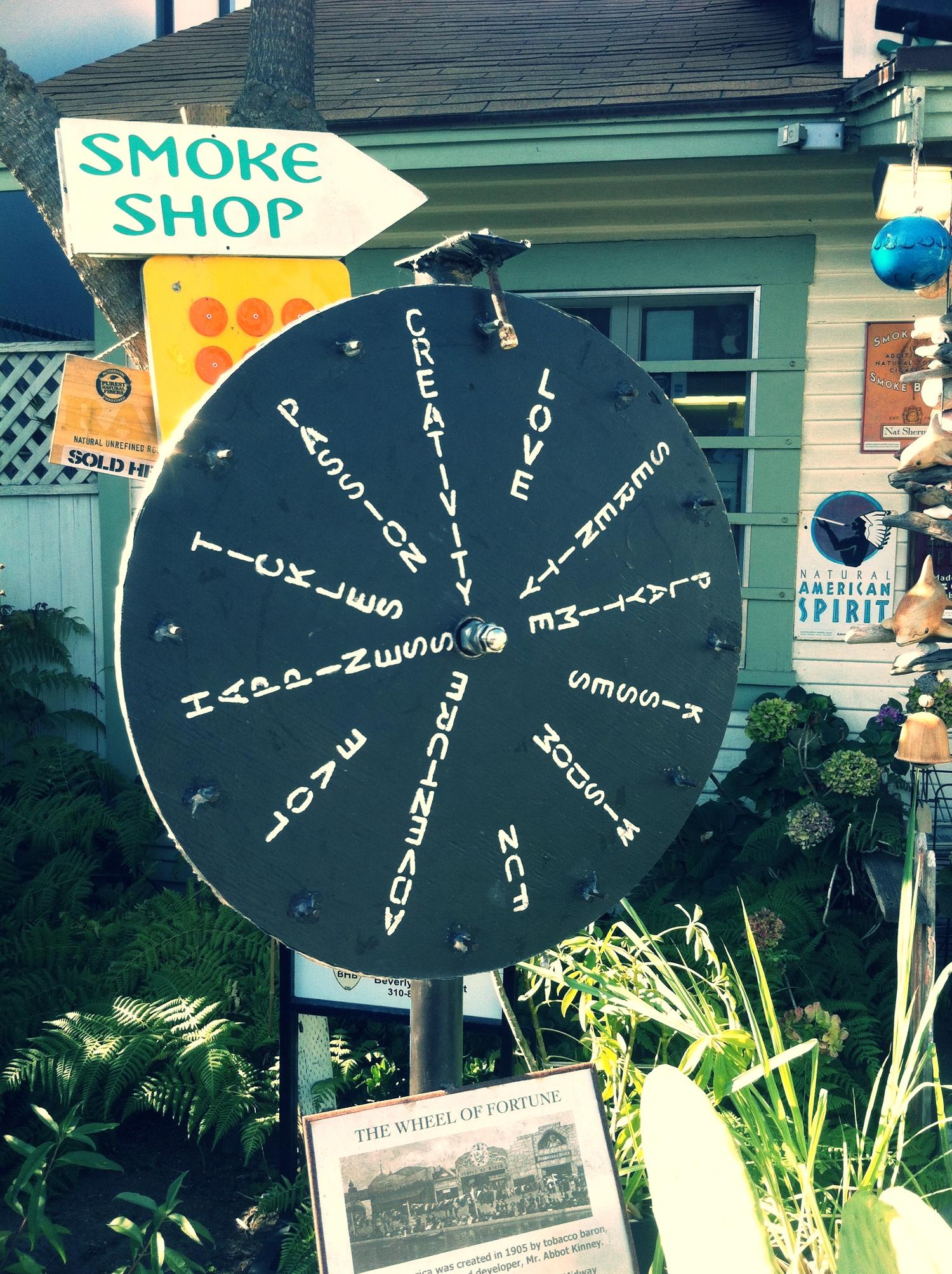 Roda da fortuna de uma loja de tabaco