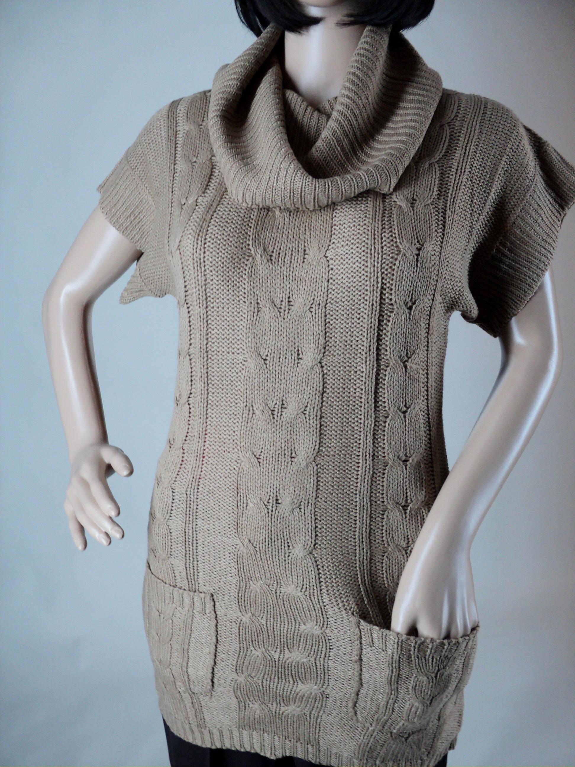 Tan Short Sleeve Sweater_Front2.jpg