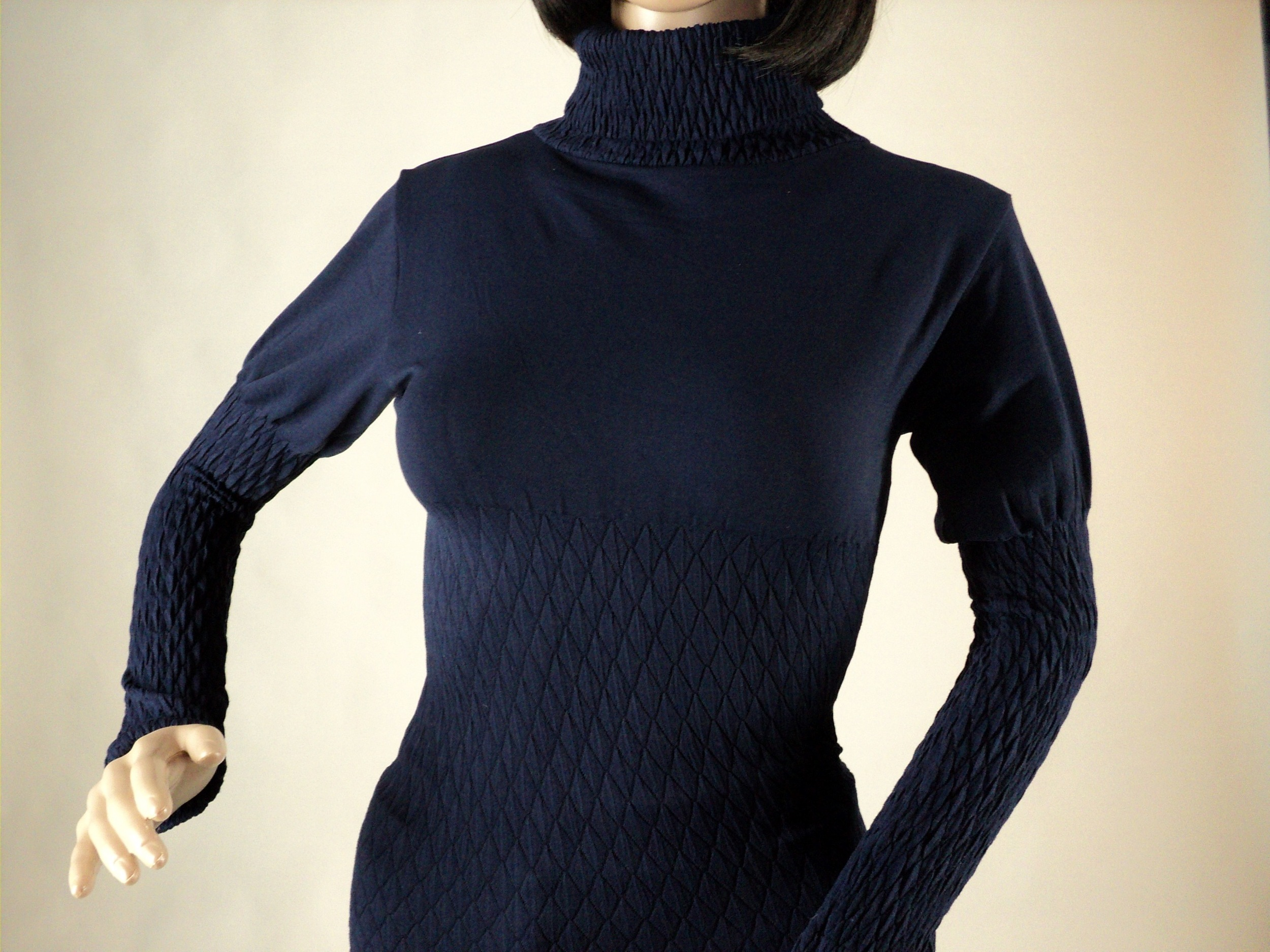 Navy Blue Turtle Neck Blouse_Front.jpg