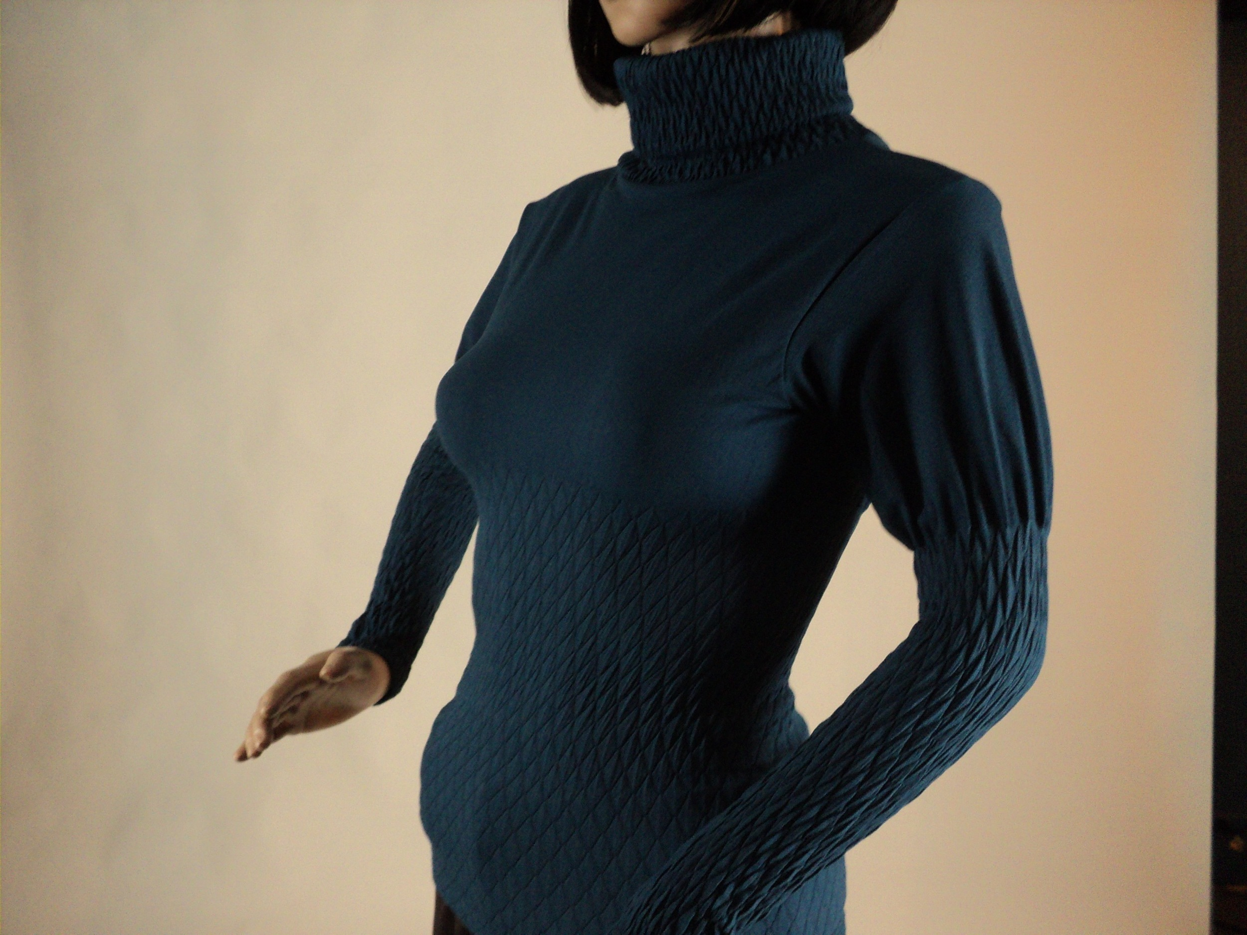 Teal Turtle Neck Blouse_Front.jpg