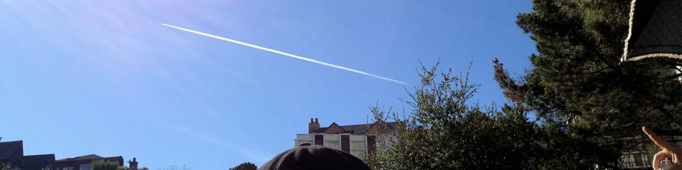 Plane passing = a sky fart