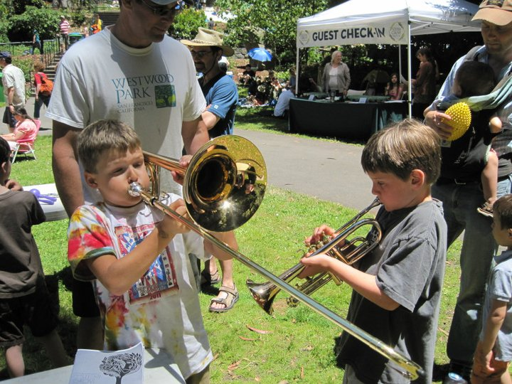 Another brass duo at the Magik Musical Petting Zoo