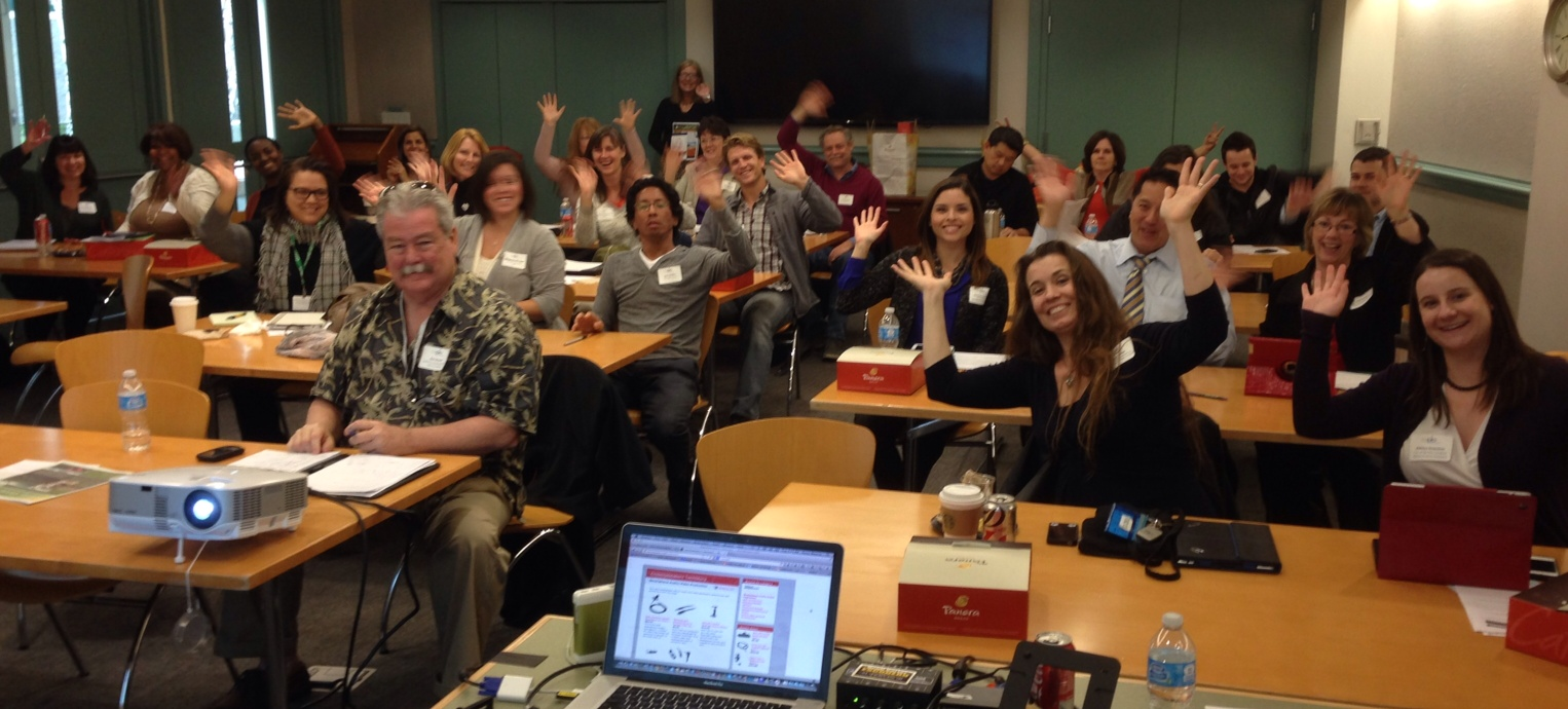 Enthusiastic CAPIO members at February 4, 2014 workshop in Dublin, CA