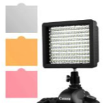 LED video light with filters