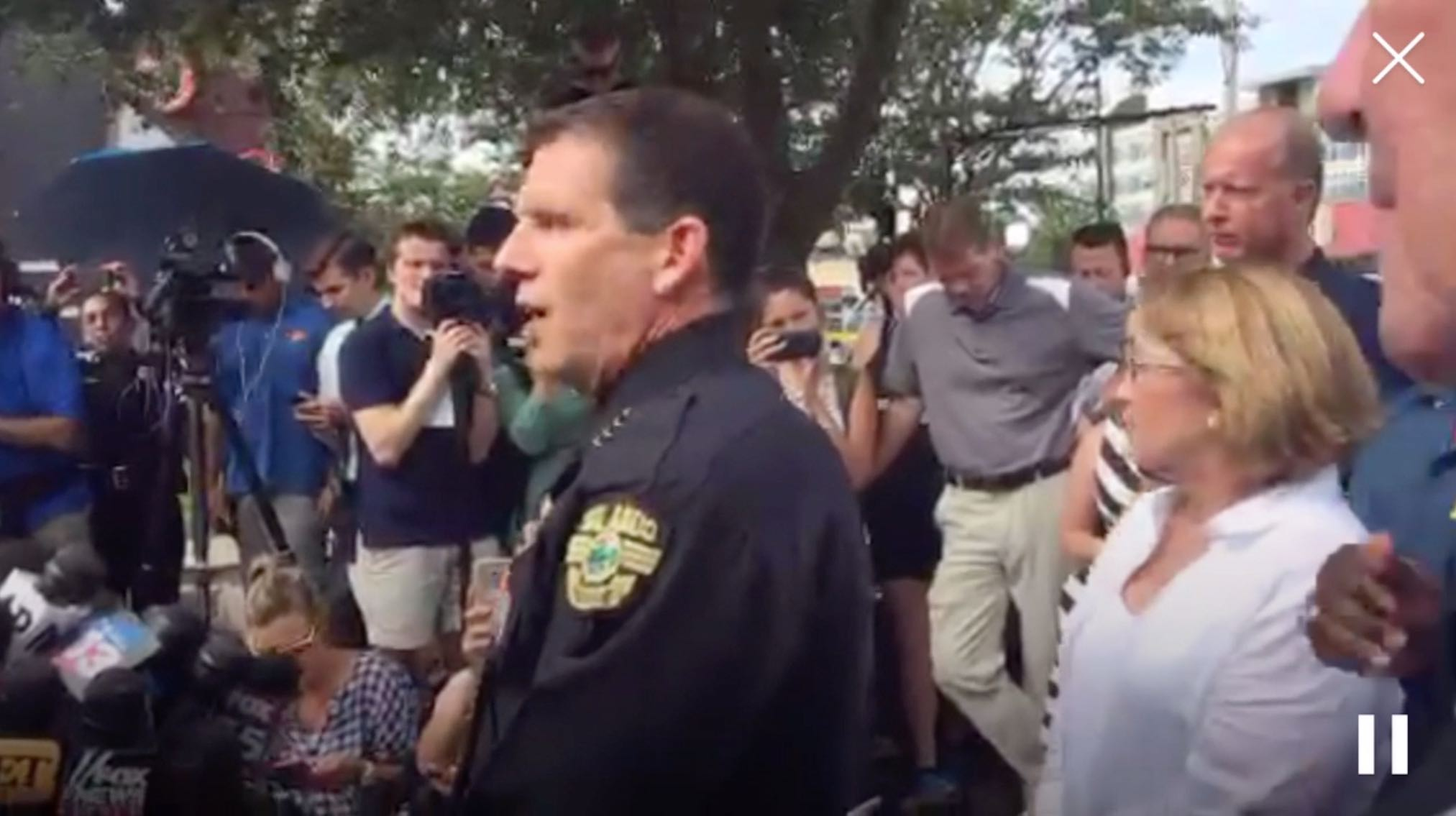 Orlando's Police Chief and Officials Hold a Media Briefing (As Seen on OPD's Periscope Channel)