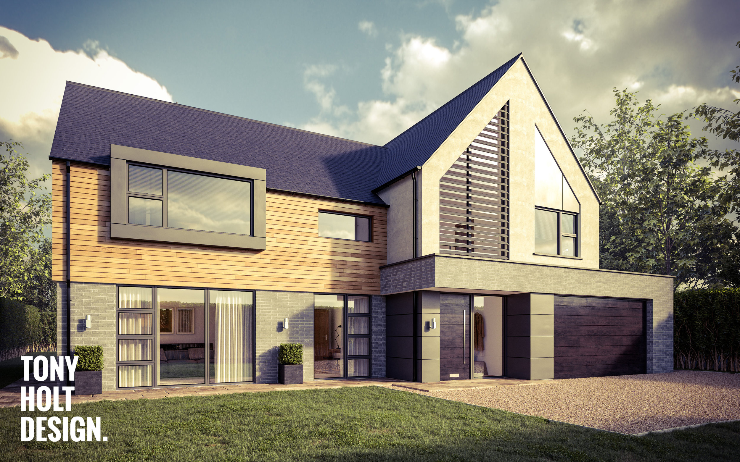 Tony Holt Design_Hunting Lodge_Self Build_New Build_Front 01_Autumn.jpg