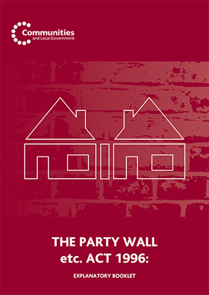 Party Wall Act - Explanatory Booklet