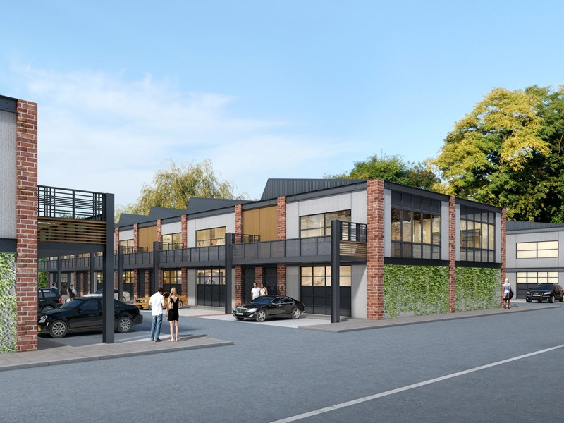 the new building complex in Bromham place, Richmond