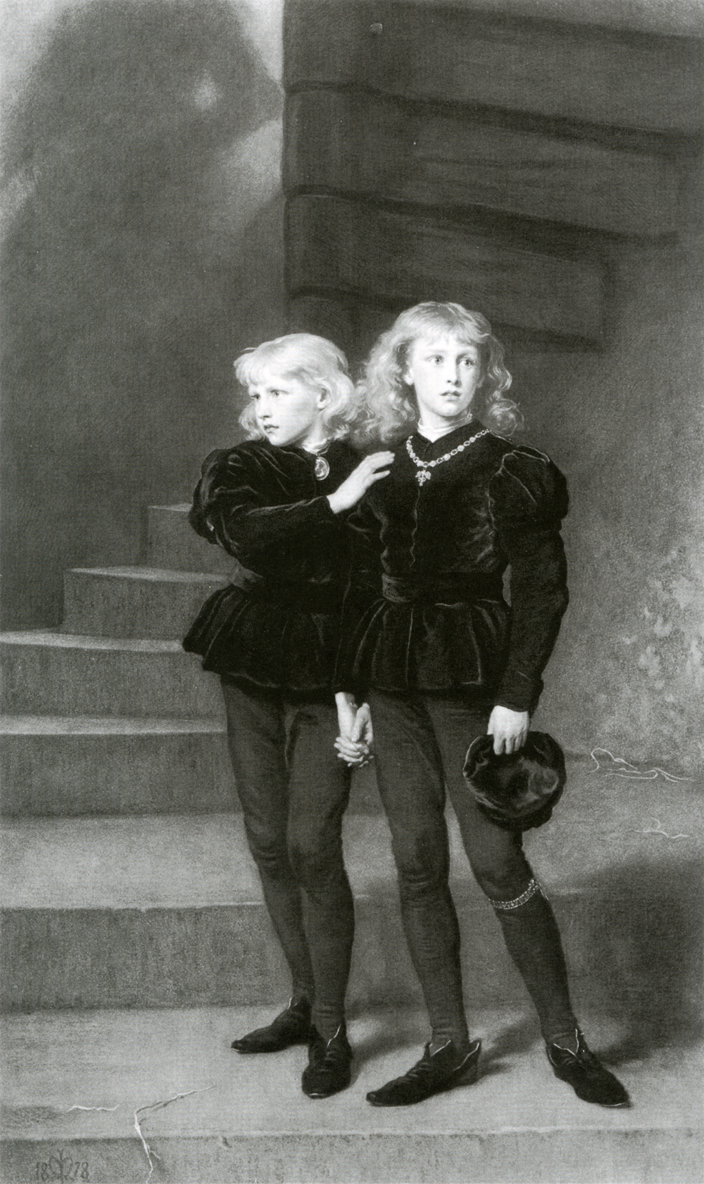 The Princes in the Tower by Samuel Cousins