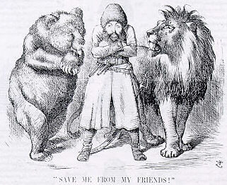 Cartoon from 1878 on the Great Game in Afghanistan. Have recent Western governments learned from that war?