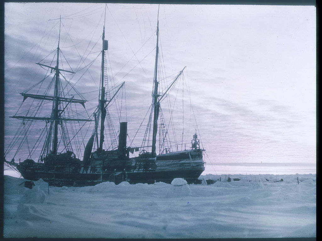 Photograph of the ship Endurance in Antarctica taken during the British Imperial Trans-Antarctic Expedition, 1914-1917. Source: State Library of New South Wales.