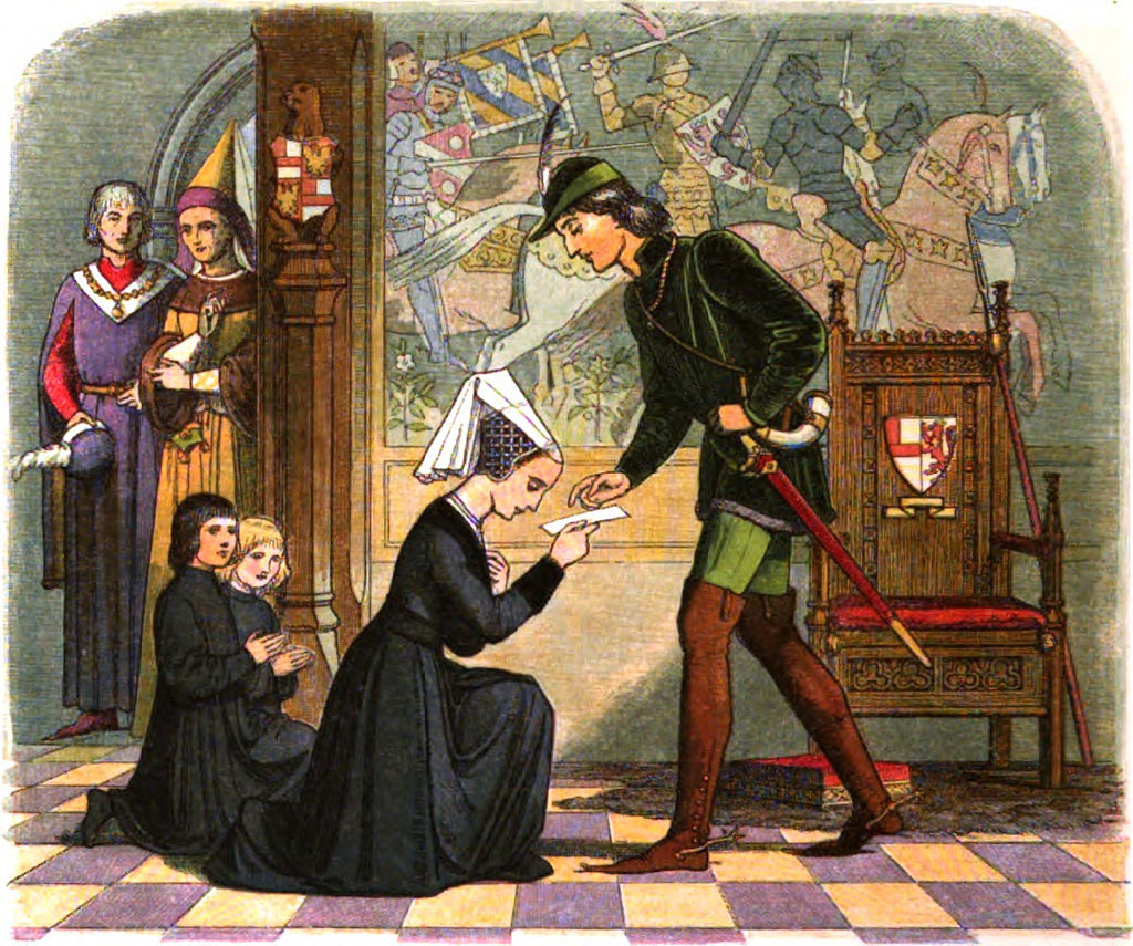 Edward IV meets his future wife and Queen, Elizabeth Woodville (Elizabeth Grey)