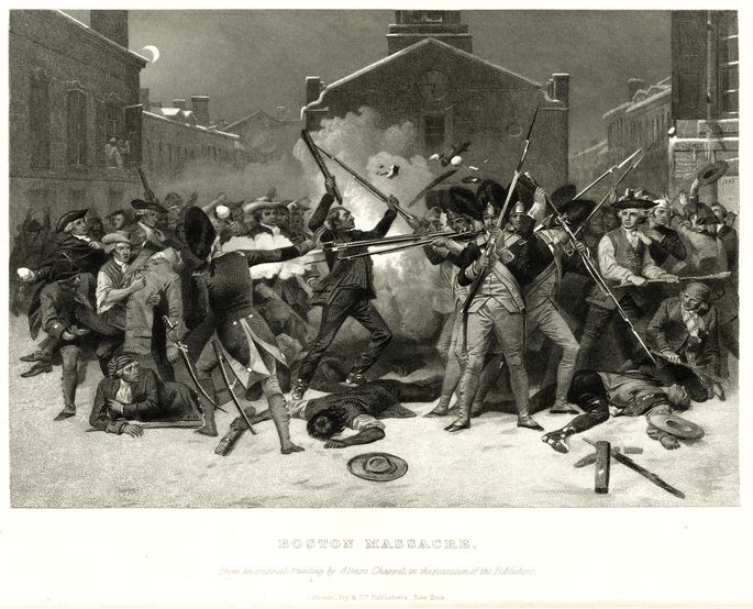 The Boston Massacre, Alonzo Chappel, 1878
