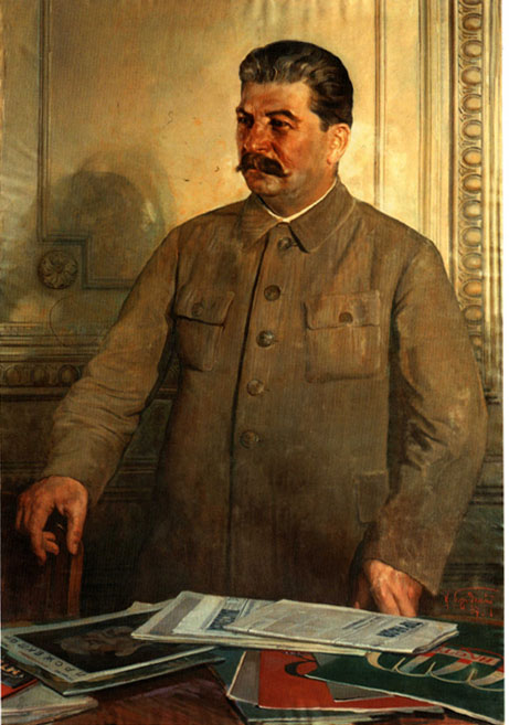 A glorified, almost saintly, portrait of Stalin, circa 1937. Alas, behind the surface, Stalin was far from being a saint.