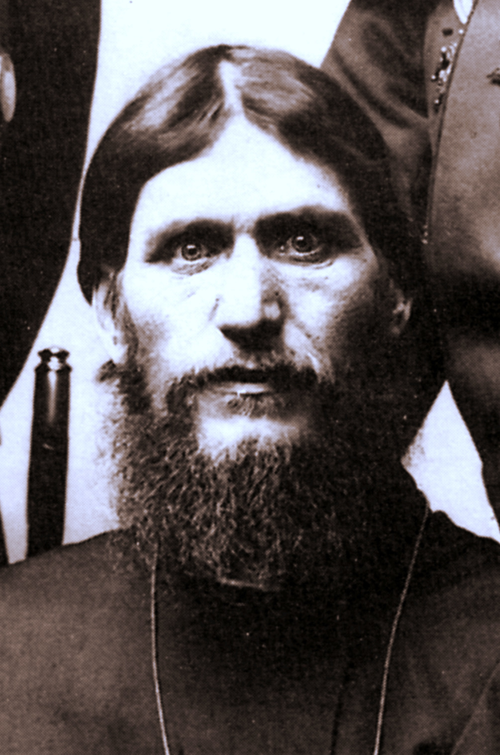 The beaming eyes of Rasputin in a photo taken in c. 1905.