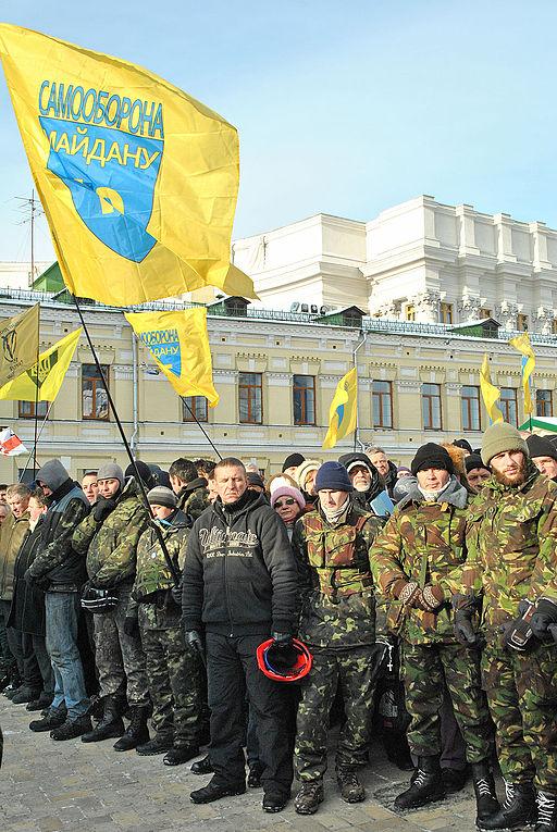 Maidan protests in Kiev. January 2014. Picture: Mikola Vacelychko