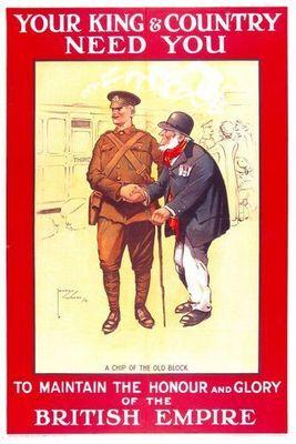 A World War I British Empire recruitment poster.