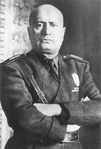 Benito Mussolini, Italian leader during part of World War II.