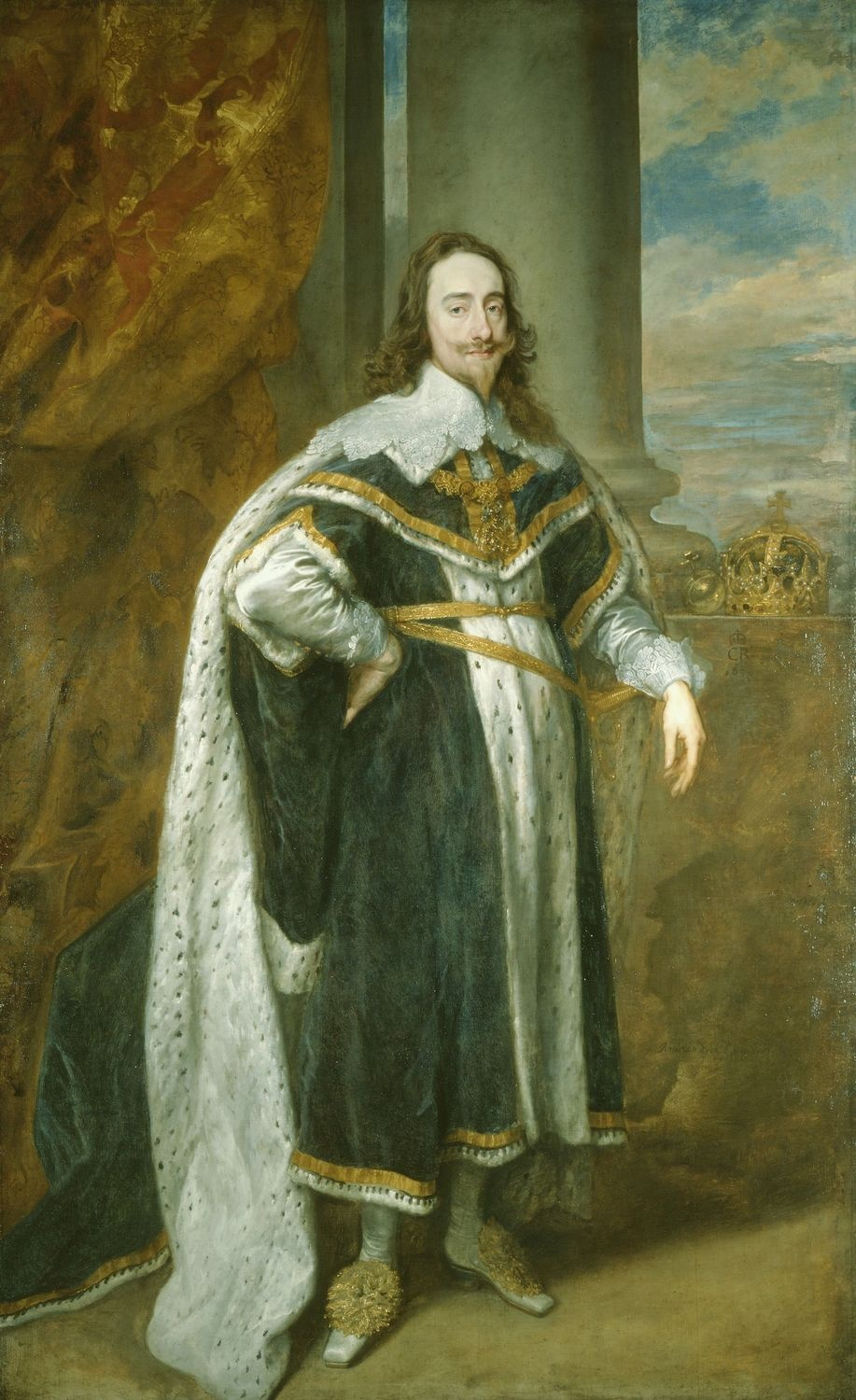 King Charles I by Anthony van Dyck. 1636.