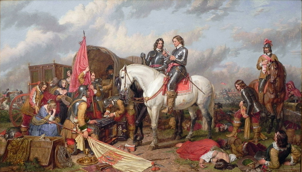 Cromwell at the Battle of Naseby, 1645. By Charles Landseer.