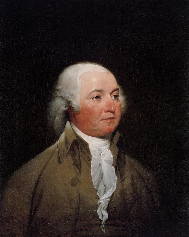 A portrait of John Adams, circa 1792. By John Trumbull.
