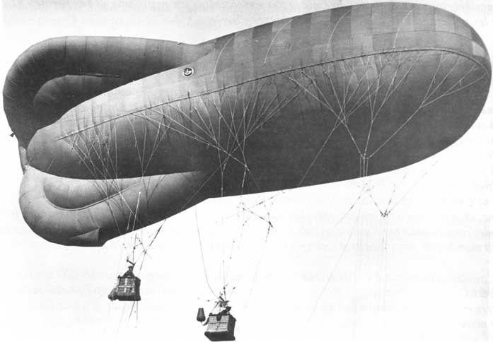 The targets, enemy observation balloons.