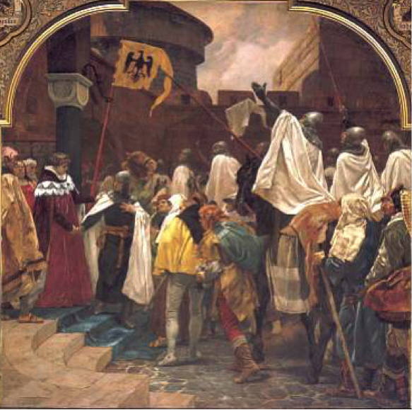 Emperor Frederick II called for Teutonic Crusades into the Baltic.