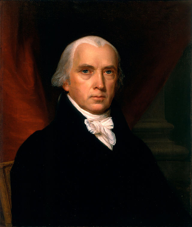 James Madison by John Vanderlyn, 1816.