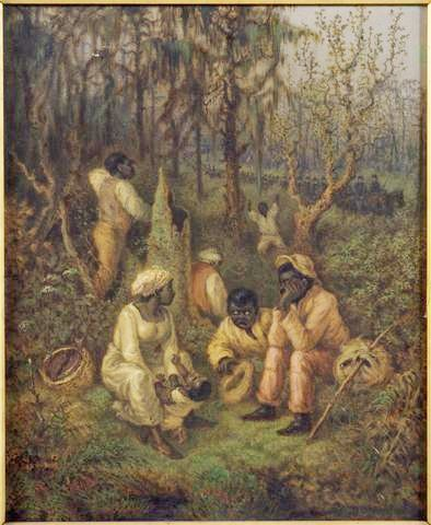 Fugitive slaves in the Dismal Swamp, Virginia. David Edward Cronin, 1888. Many fugitive slaves joined the Union Army in the US Civil War.