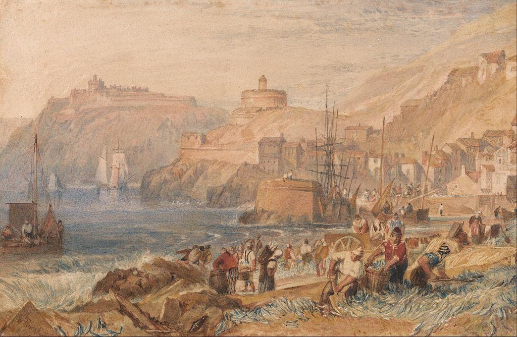 St Mawes byJ.M.W. Turner, circa 1823.