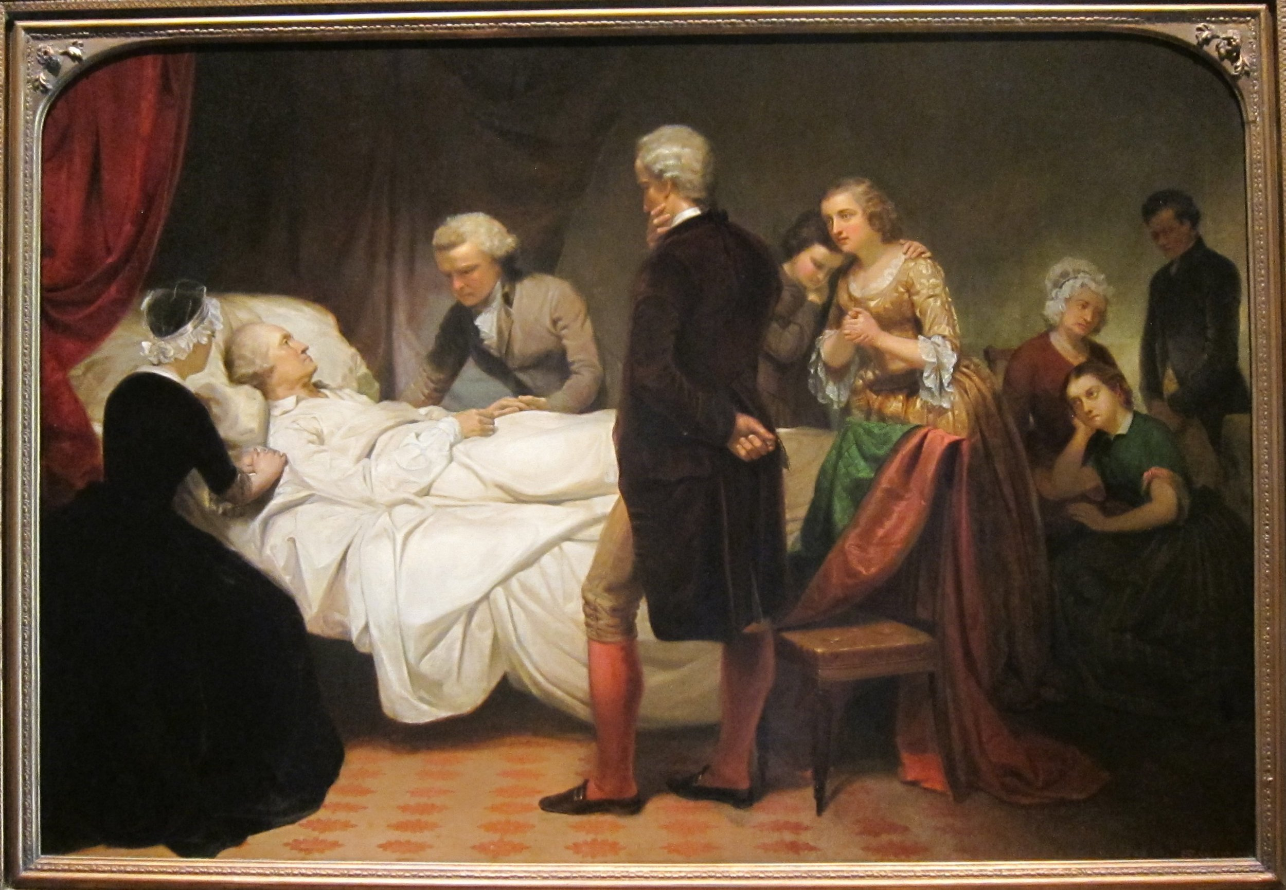 George Washington on his Deathbed by Junius Brutus Stearns. 1851.