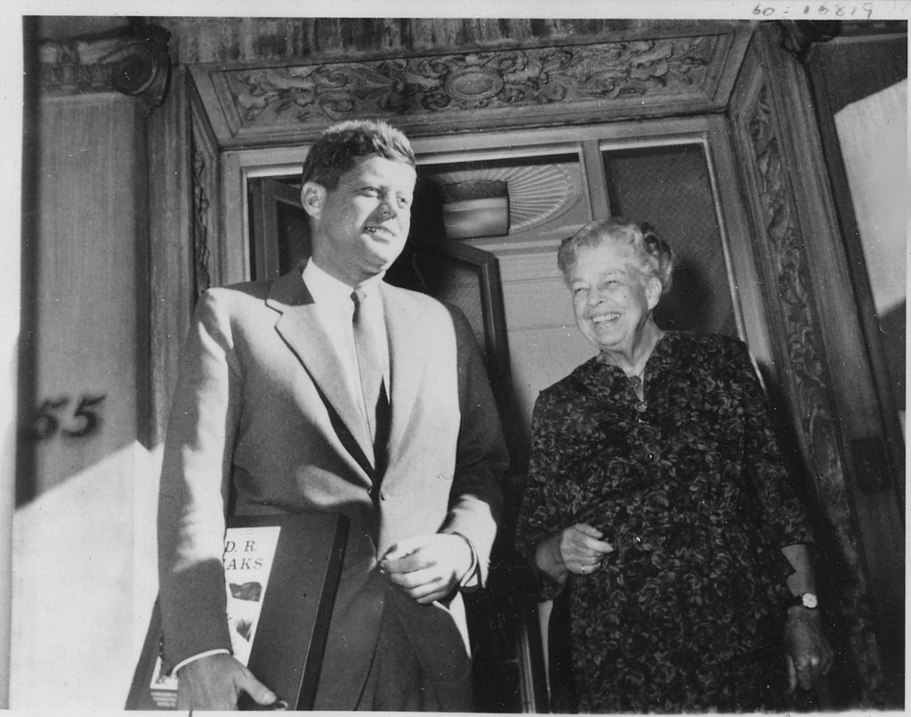 JFK and Eleanor Roosevelt together in New York in October 1960.