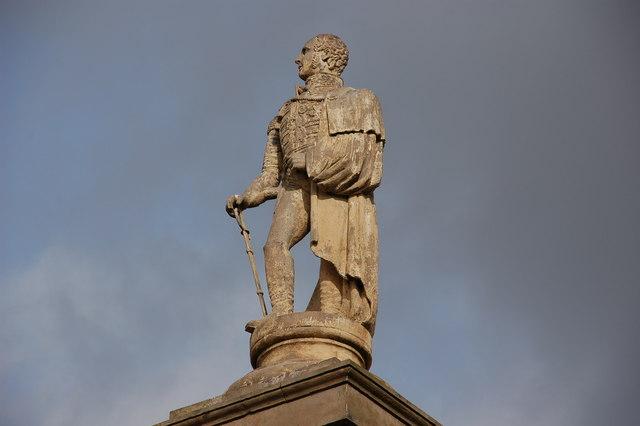 A statue of Robert Rollo Gillespie in Comber, Northern Ireland. Photo taken in 2007. Source: Albert Bridge, available  here .