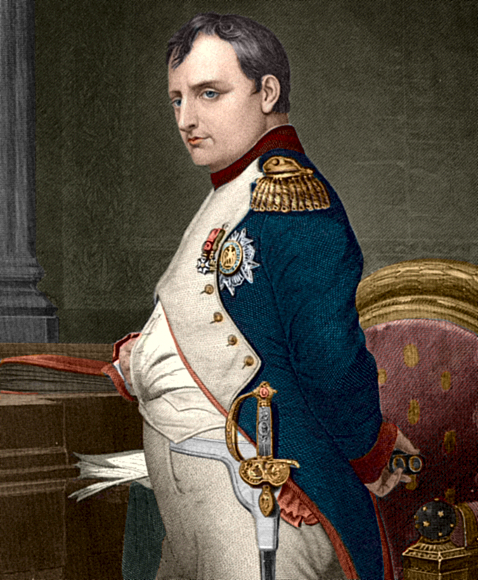 A picture of Napoleon Bonaparte.