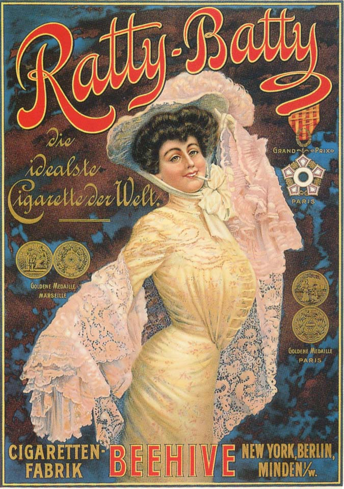 A German cigarette advertisement, circa 1910.