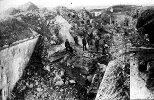 Fort Loncin in the aftermath of the battle.