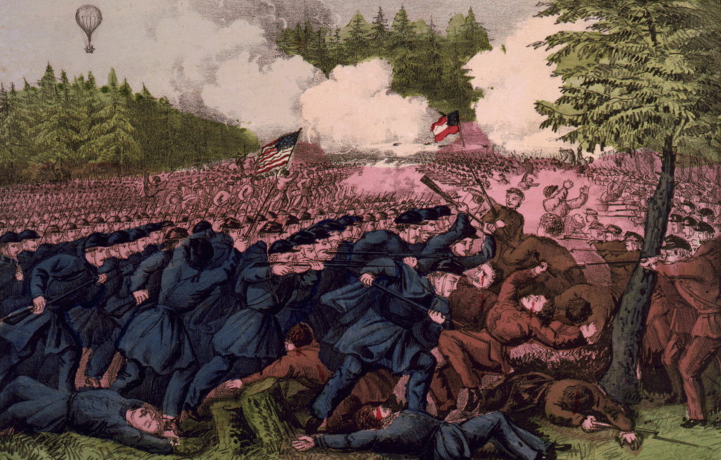 The Battle of Seven Pines, Virginia May 31, 1862. The battle took place near Richmond where Elizabeth Van Lew was from.
