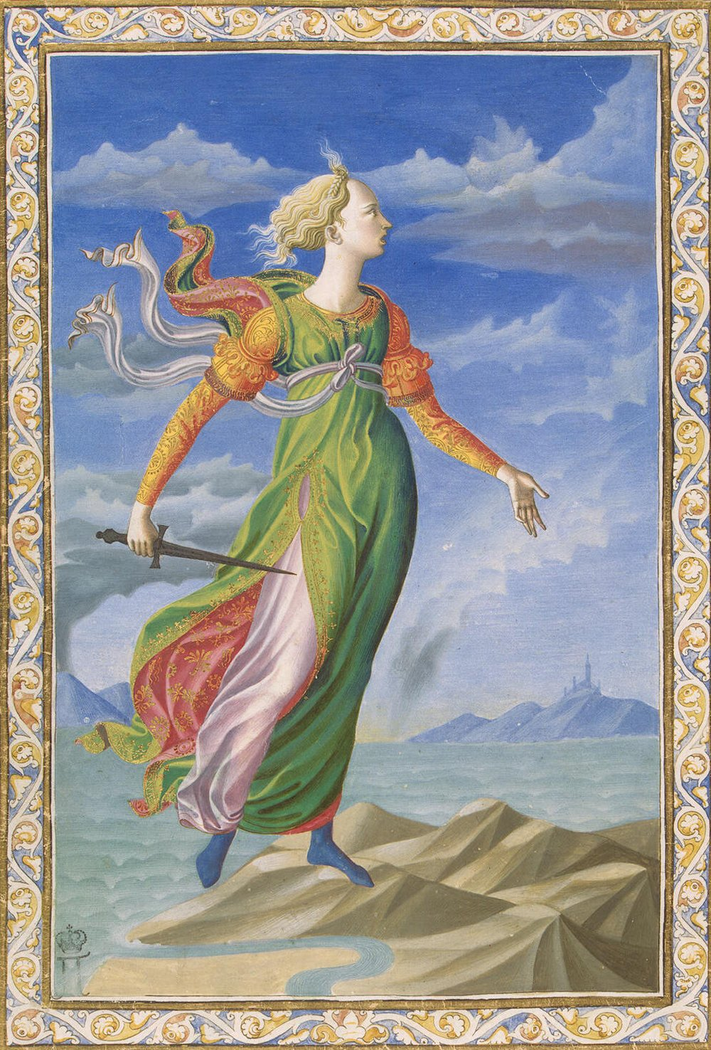 The painting  Allegory of Carthage  by Francesco di Stefano.