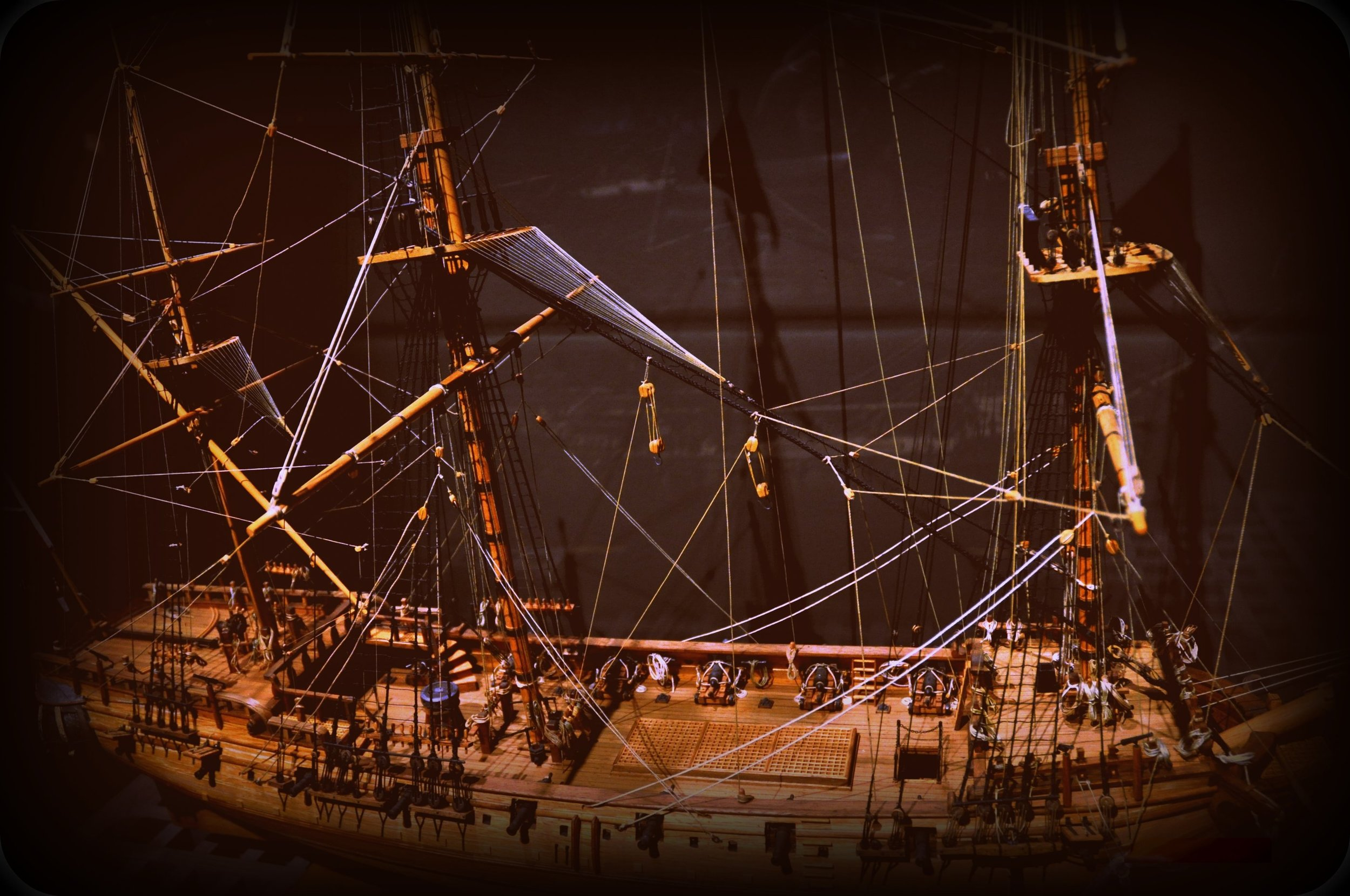 A model of the ship the  Whydah Galley . Source: jjsala, available  here .