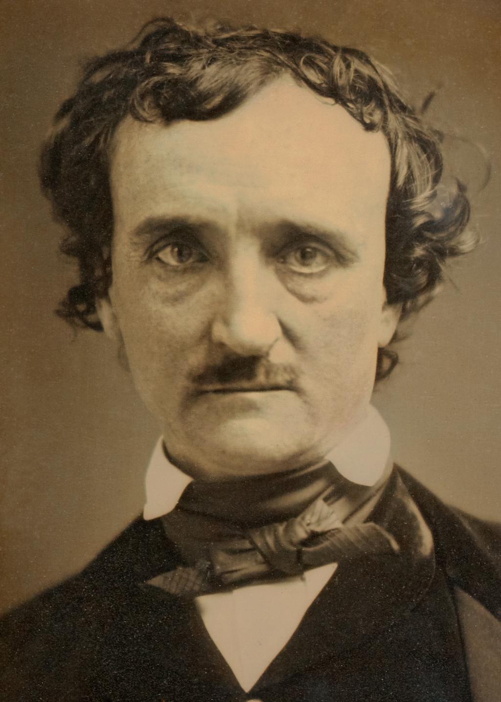An 1849 daguerreotype of Edgar Allan Poe.