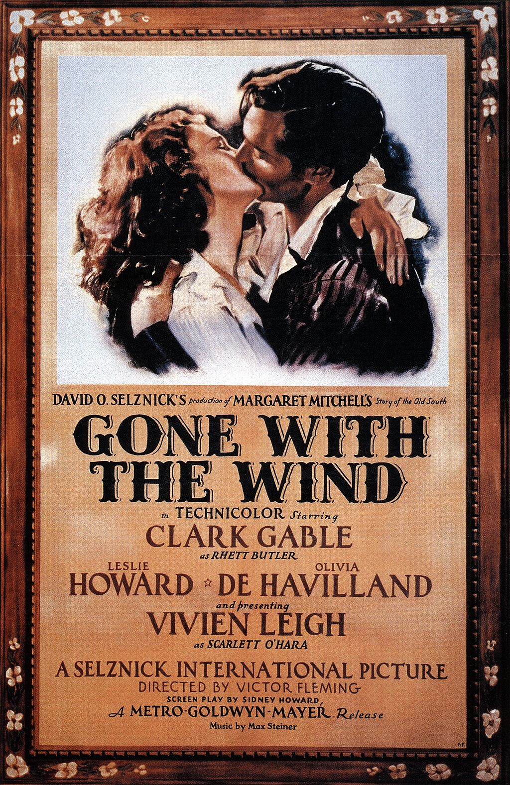 A 1939 poster for  Gone with the Wind  - available  here .