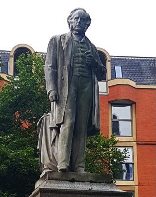 John Bright statue in Manchester, England.