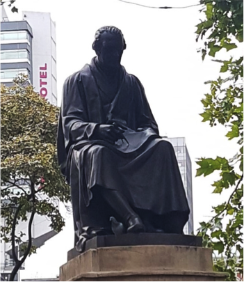 James Watt statue in Manchester, England.