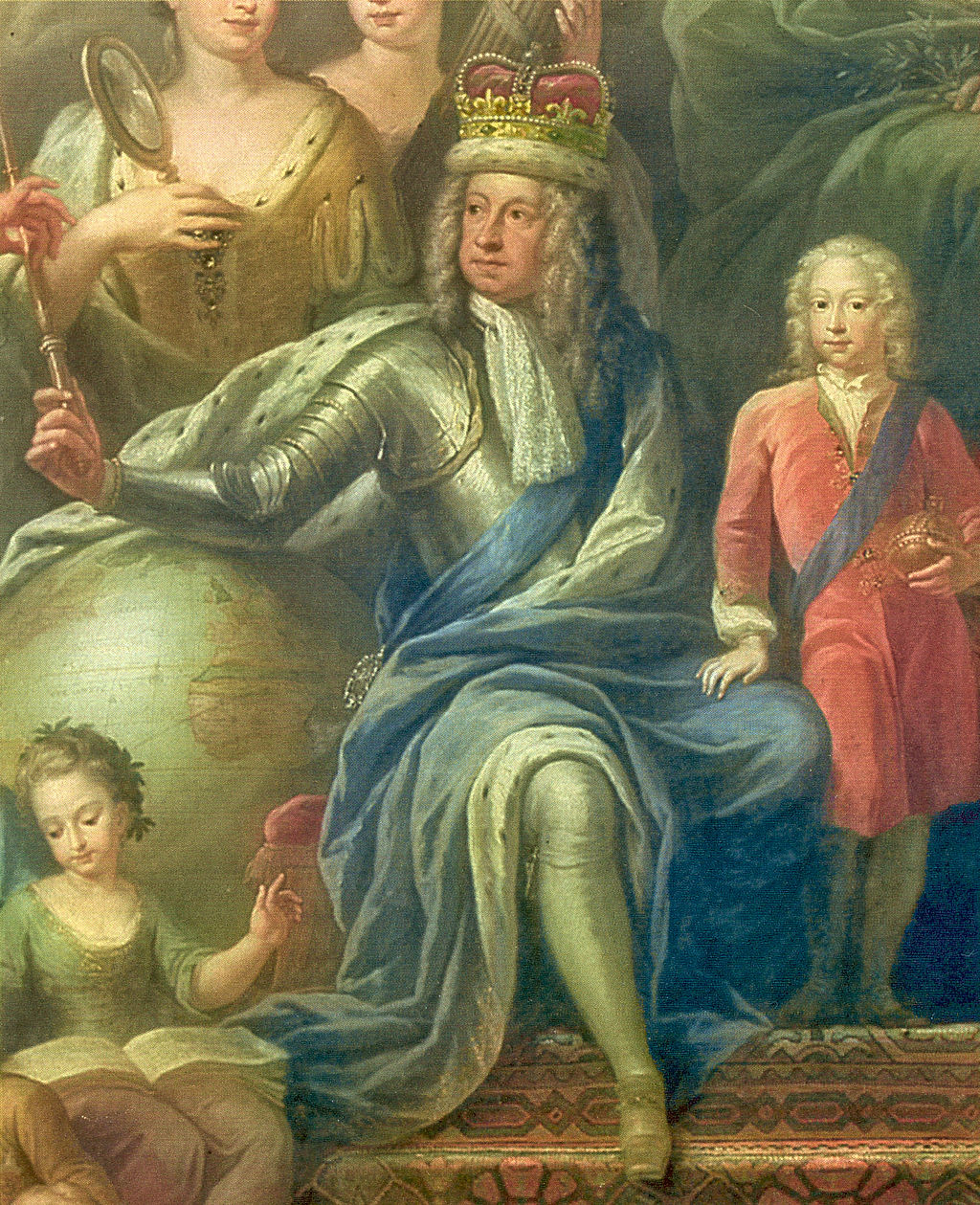 George I with his family. Painting by James Thornhill.