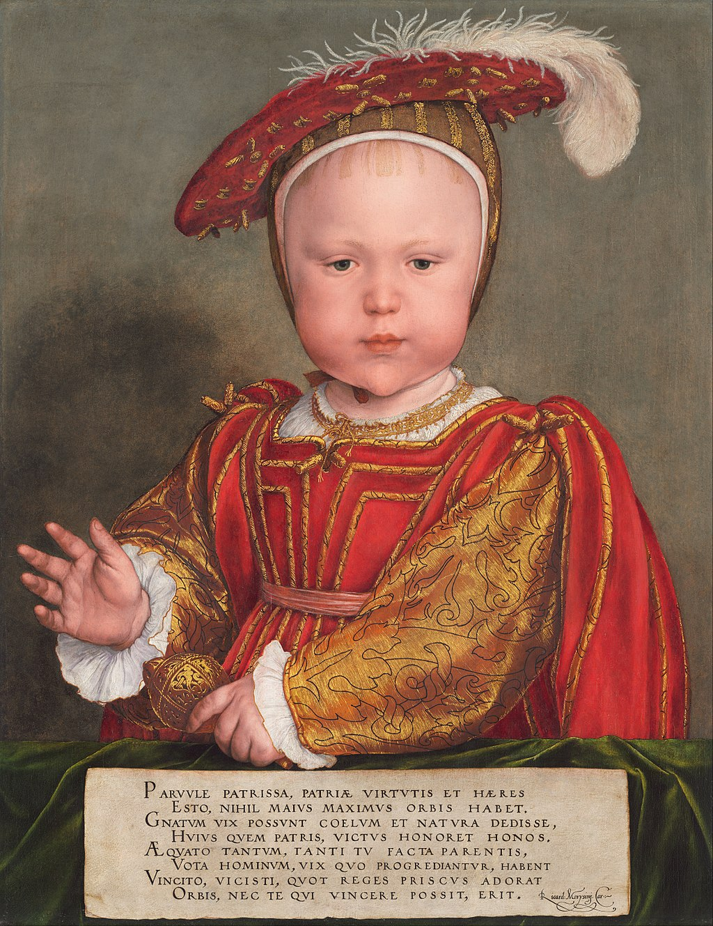 King Edward VI of England as a child.